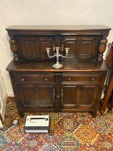 Ercol dark wood sideboard/dresser unit
