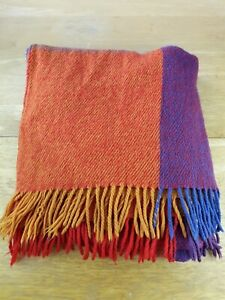 Woven Fringed Multicoloured Chair Throw Blanket