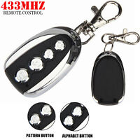 1Pair 2pc Electric Gate Cloning Garage Door Remote Control Fob 433MHZ Duplicator