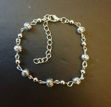 Bead Anklet And Free Giftbox. Wholesale 925 Sterling Silver Filled