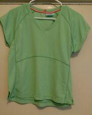 Jockey Activewear Women's Green Cap Sleeve Shirt Top