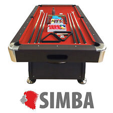 8 Ft Pool Table Billiard Playing Game billiards table red Cloth Indoor Sports