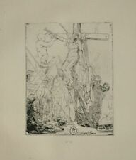 La descente de la croix - Rembrandt Eau Forte XIXème siècle