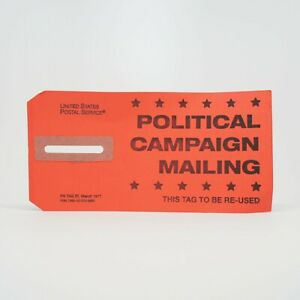 Red - Political Campaign Mailing Tag 57 - March 1977