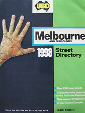 UBD street directory - Melbourne 1998 - Edition 34