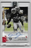 2019 Panini Instant Josh Jacobs On-Card Autographed Rookie Card 3/10