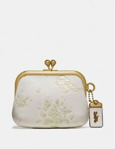 Coach Disney X Kisslock Pouch with Bambi (Chalk) - NWT (69186)