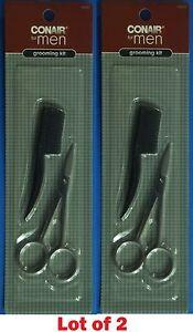 CONAIR LOT 1x, 2x  Beard & Mustache Scissors Comb Facial Hair Grooming Set