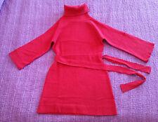 abito vestito rosso CAMAIEU donna S M  maglia lana maglione lungo red dress sexy