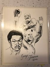 George Foreman Boxing 8x10 Glossy Illustration Print Black White Heavyweight