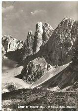 160426 BERGAMO VALLE di SCALVE - CIMON DELLA BAGOZZA Cartolina FOTOG. viagg 1965