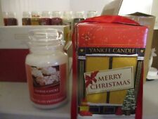 B/N Yankee Candle Gift Boxed Large Jar Christmas Chocolate Peppermint Very Rare
