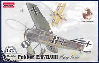 Roden 004 - 1/72 - Fokker E.V/D.VIII 1918 WWI German Airplane plastic model kit