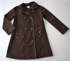 GYMBOREE Sz S - 5 6y Brown PickStitch Trench Coat Lined Girl's Best Friend