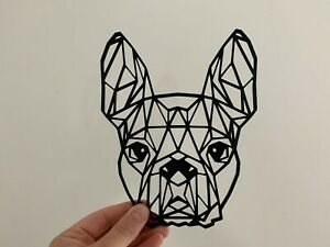 Geometric Boston Terrier Dog Animal Wall Art Decor Hanging Decoration