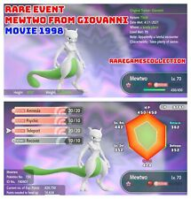 Pokemon Let's Go Pikachu Eevee ✨ SHINY ✨ 6 IV MEWTWO GIOVANNI EVENT FAST TRADE