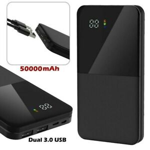 AU 50000mAh Portable Power Bank Charger With LCD 2USB External Battery Pack