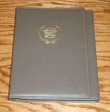 Original 1986 Cadillac DeVille & Fleetwood Owners Operators Manual Set 86