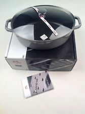 New Staub Shallow Oval Cocotte with Glass Lid 4qt