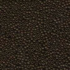New listing Miyuki Seed Beads 6/0 Opaque Chocolate 6-409 Glass 20g in a Tube Round Brown