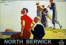 North Berwick Golf LNER y LMS Tren Ferrocarril Viaje Ferrocarriles cartel impresión