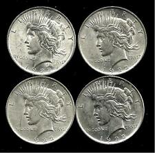 4 Coin Lot___1922-P Peace Silver Dollars__BU/UNC___#2240LB17