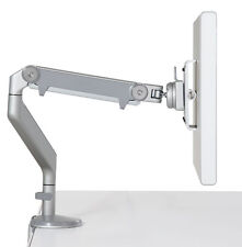 Humanscale M2 Monitor Arm - Bolt-Through Desk Table Mount, Silver with Gray Trim