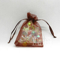 Colorful Organza Wedding Favour Candy Chrestmas Gift Bags Jewelry Pouches 9X12cm