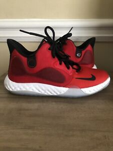 Nike Kids' KD Trey 5 VII GS AT5685-600 Red Black White Shoes Size 4 Youth