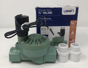 "Orbit 3/4"" Plastic Electric Inline Irrigation Sprinkler Valve Model #57100P"