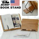 Book Stand Bible Wooden Reading Holder Desk Bamboo Bookstand Tray Rack Shelf