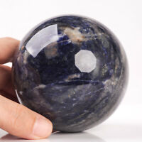 901g 86mm Large Natural Blue Sodalite Quartz Crystal Sphere Healing Ball Chakra