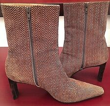 Di Sandro Ankle Boots Leather seude Italy Womens Size EU 38 US 8