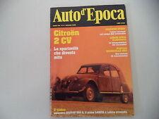 AUTO D'EPOCA 5/1996 CITROEN 2CV/PONTIAC BONNEVILLE/CHIRIBIRI/LANCIA APPIA/ESATAU
