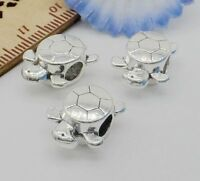 20/100Pcs Tibetan Silver Big hole Tortois Spacer Beads Fit Jewelry 18mm Hole:4mm