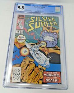 Silver Surfer v3 #34 1990 [CGC 9.8] Return of Thanos Marvel Key Issue