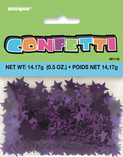 STAR CONFETTI IN METALLIC PURPLE STAR CONFETTI FOR TABLE DECORATIONS 14g