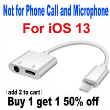 2 IN 1 Lightning to 3.5mm AUX Headphone and Charger Splitter For iPhone iOS 13