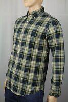 Polo Ralph Lauren Blue Green Plaid Button Down Custom Fit Oxford Dress Shirt NWT