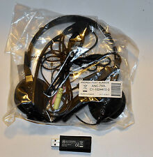 NEW Andrea ANC-750L STEREO HEADSET NOISE CANCELLING MIC + Ext Stereo Card USB-SA
