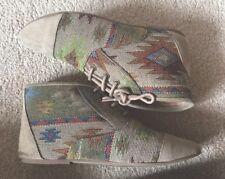 Soul Cal & Co Aztec Canvas Ankle Boots - Size 4 UK