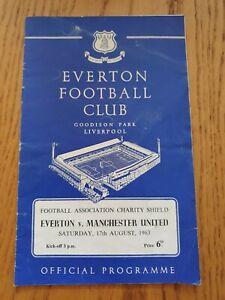 1963 FA CHARITY SHIELD PROGRAMME - Everton v Manchester United