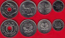 Papua New Guinea set of 4 coins: 5 toea - 1 kina 2009-2010 UNC