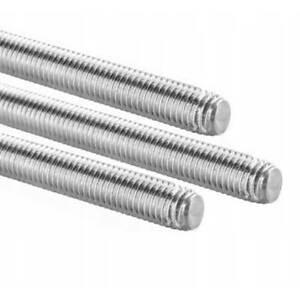 EDELSTAHL  25 St/ück Gr/ö/ße M24 Material Stahl verzinkt GEWINDESTANGEN M3 bis M24 mit MENGENRABATT//STAHL