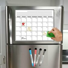 17x11 Monthly Fridge Magnetic Dry Erase Board Planner Refrigerator Whiteboard