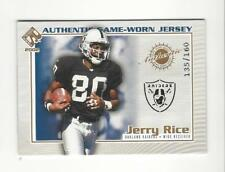 2002 Private Stock Game Worn Jersey Logos #92 Jerry Rice JERSEY Raiders /160