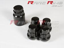 Black Locking Wheel Nuts x4 12x1.25 Fits Nissan 200sx S12 S13 S14 S15 Sylvia