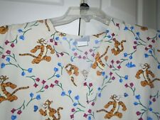 Disney Tigger Tan Scrub Top  Size Large L  Great Condition