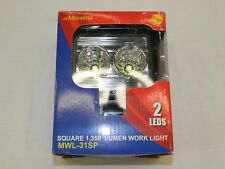 Maxxima MWL-31SP Heavy Duty Square Compact Work Light 1350 Lumen 2 LED's