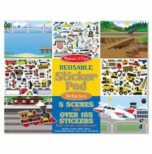 Melissa and Doug 14199 - Reusable Sticker Pad - Vehicles - NEW!!